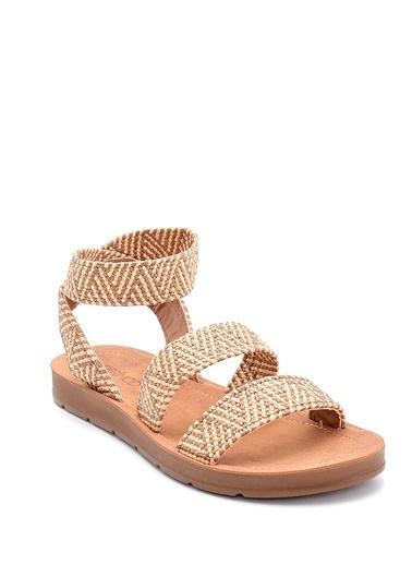 Derimod Kadın Sandalet(Zs668-C017) Casual Bej